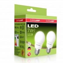 Светодиодная лампа EUROLAMP LED ЕКО A50 7W 3000K E27 (25) MLP-LED-А50-07272(E) промо-набор