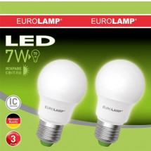 Светодиодная лампа EUROLAMP LED ЕКО A50 7W 4000K E27 (25) MLP-LED-А50-07274(E) промо-набор