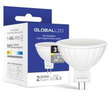 Светодиодная лампа GLOBAL LED MAXUS MR16 3W 3000K 220V GU5.3 1-GBL-111