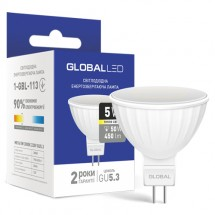 Светодиодная лампа GLOBAL LED MAXUS MR16 5W 3000K 220V GU5.3 1-GBL-113