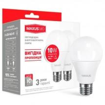 Led лампа МАХUS A60 10W 4100K E27 2-LED-562-01
