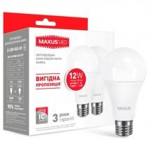 Led лампа МАХUS A65 12W 3000K E27 набор 2шт 2-LED-563-01