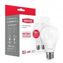 Led лампа МАХUS A70 15W 3000K E27 2-LED-567-01