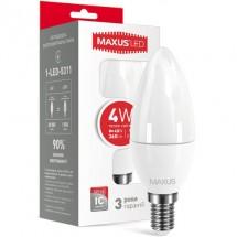 Светодиодная лампа МАХUS LED C37 CL-F 4W 3000K 220V E14 1-LED-5311