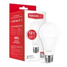 Светодиодная лампа Maxus 1-LED-563-P A65 12W 3000K 220V E27