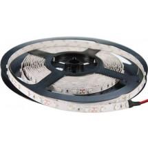 LED лента SMD S3528-600 R(W) цвет-красный в силиконе, 9,6W 120шт/м, 12V