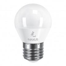 Светодиодная лампа Led Maxus 1-Led-313 G45 SMD 5W 3000K 220V E27