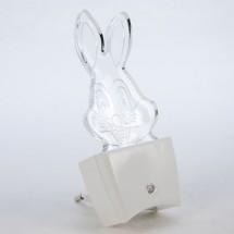 Светильник светодиодный Led : ночник - КРОЛИК (включение в розетку) 1Вт MULTICOLOR
