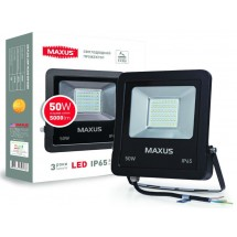Прожектор LED FLOOD LIGHT MAXUS 50W 5000K 1-MAX-01-LFL-5050.