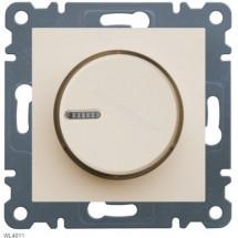 Светорегулятор поворотный 60-600Вт HAGER LUMINA-2 WL4011 кремовый цвет