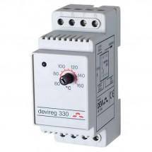 Терморегулятор Devireg 330 (+5...+45) на дин-рейку 140F1072