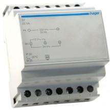 Трансформатор на динрейку Hager 230В/24 В (1,67А), 230В/12 (3,33А) 4м ST314