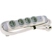 Удлинитель 4ZW/3м Комфорт 4 гнезда с заземлением и выключателем, шнур 3м 694627 Legrand