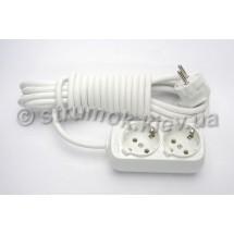 Удлинитель электрический 2 гнезда/ 5 метров Z (с заземлением) LILAC Турция