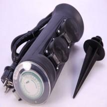 Удлинитель электрический-столбик садовый 2 розетки Z  с подсветкой и таймером EXPERT ECH-GS2-Rb-3.0-1.5e-ТМ