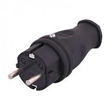 Вилка электрическая Z с заземлением MUTLUSAN каучук 1х16А