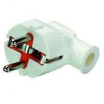 Вилка электрическая Z с заземлением Profitec угловая белая PRF ACS 9090102041