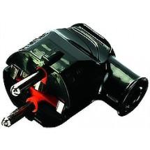 Вилка электрическая Z с заземлением Profitec угловая черная PRF ACS 9090101012