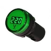 Вольтметр цифровой измеритель напряжения AD22-22DVM Аско Укрем зеленый A0190010011
