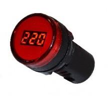 Вольтметр цифровой измеритель напряжения AD22-22DVM красный Аско УкрЕм A0190010010