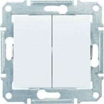Выключатель 2-клавишный(сх.5) белый SDN0300121 Sedna SCHNEIDER