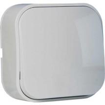 Выключатель 1-клавишный EVA HOROZ 112-001-0001 накладной белый цвет