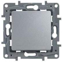 Выключатель 1-клавишный LEGRAND ETIKA 672401 алюминий