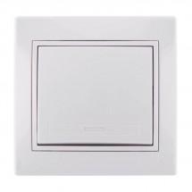 Выключатель 1-клавишный LEZARD MIRA 701-0202-100 белый цвет