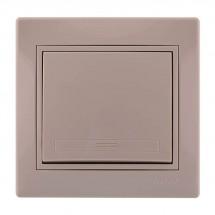 Выключатель 1-клавишный LEZARD MIRA 701-0303-100 кремовый цвет