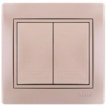 Выключатель 1-й MIRA 701-3030-101 жемчужно-белый перламутр
