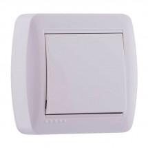 Выключатель 1-клавишный накладной LEZARD DEMET 711-0200-100 белый цвет