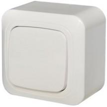 Выключатель 1-клавишный накладной LIREGUS ALFA IP20 белый PJ1 10-012 A/B
