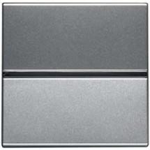 Выключатель 1-клавишный проходной ABB Zenit N2102 PL цвет серебро