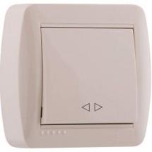Выключатель проходной DEMET 711-0300-105 крем