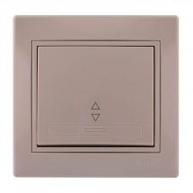 Выключатель 1-клавишный проходной LEZARD MIRA 701-0303-105 кремовый цвет