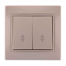Выключатель 1-клавишный проходной LEZARD MIRA 701-0303-106 кремовый цвет