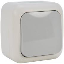 Выключатель 1-клавишный проходной накладной VI-KO Palmiye IP54 90555404 серый цвет