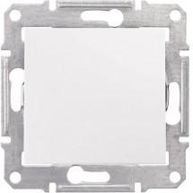 Выключатель 1-клавишный проходной Sedna Schneider Elrctric SDN0400121 белый цвет