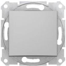 Выключатель Sedna SDN0100160 алюминий