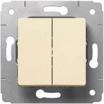 Выключатель 2-клавишный Legrand Cariva 773708 универсальний слоновая кость