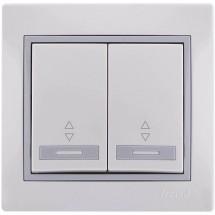 Выключатель 2-кл проходной LEZARD MIRA 701-0202-106 белый