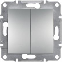 Переключатель  2-й проходной ASFORA EPH0600161 алюминий