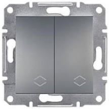 Выключатель проходной 2-й ASFORA EPH0600162 сталь