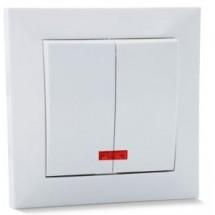 Выключатель с подсветкой 2-й SVEN SE-60016L белый