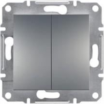Выключатель 2-кл Schneider ASFORA EPH0300162 сталь