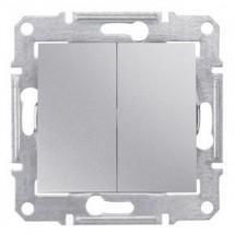 Выключатель 2-й Sedna SDN0300160 алюминий