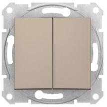 Выключатель 2-й Sedna SDN0300168 титан
