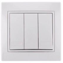 Выключатель 3-й LEZARD MIRA 701-0202-109 белый