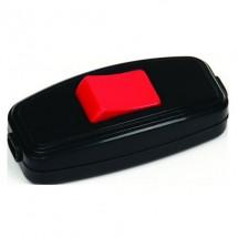 Выключатель для бра (10А) TEB Elektrik 300-002-708 черно / красный подвесной