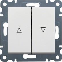 Выключатель для жалюзи Контактор HAGER LUMINA-2 WL0320 белый цвет
